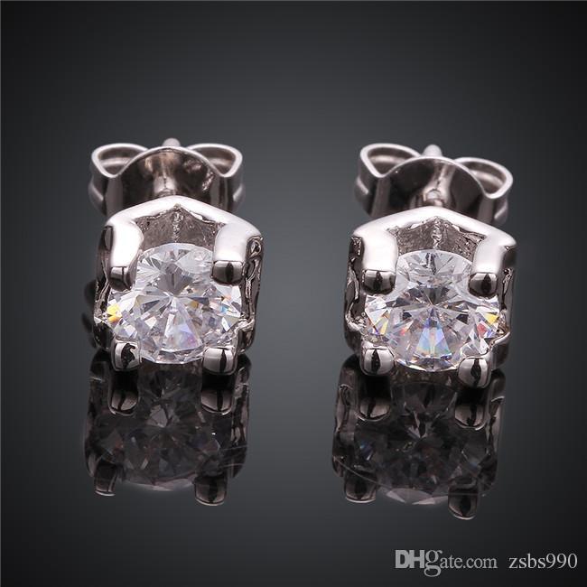 Bijoux de mariage pour les mariées Top qualité plaqué or 18 carats CZ boucles d'oreilles diamant design de mode livraison gratuite