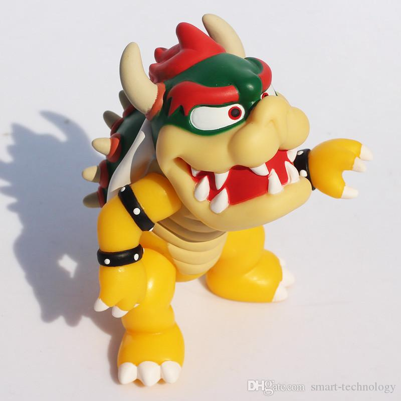 """Super Mario Bowser Action Figures Doll PVC figure Toys Cute 4.3"""" doll toys DHL"""