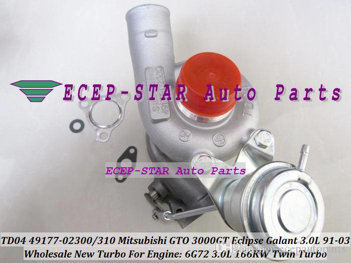 Твин турбо 2 шт TD04 49177-02300 49177-02400 турбонагнетатель для Мицубиси GTO 3000 т Эклипс Галант Додж стелс 1991-03 6G72 V6 объемом 3.0 л 166KW