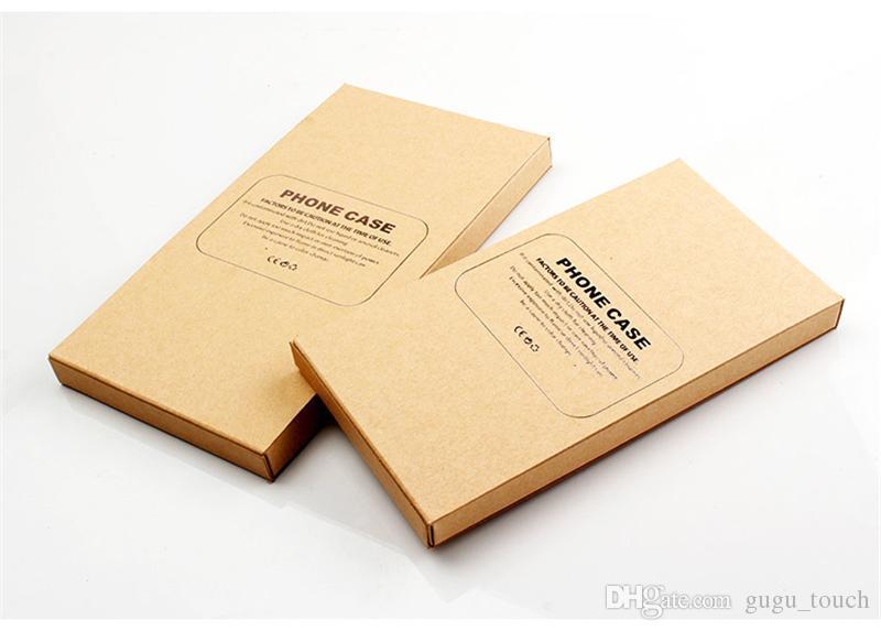 Caja de empaquetado de lujo del embalaje del papel de Kraft Caja de empaquetado del paquete al por menor de la caja del teléfono para el iphone 6 7 8 más para la caja del teléfono celular