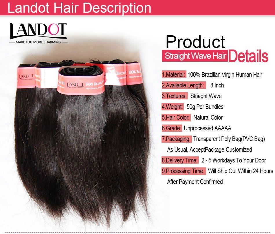 Kısa İnsan Saç Dokuma Paketler Sınıf 6A Işlenmemiş Brezilyalı Perulu Malezya Hint Kamboçyalı Düz Saç 4/5/6/7/Ucuz Saç