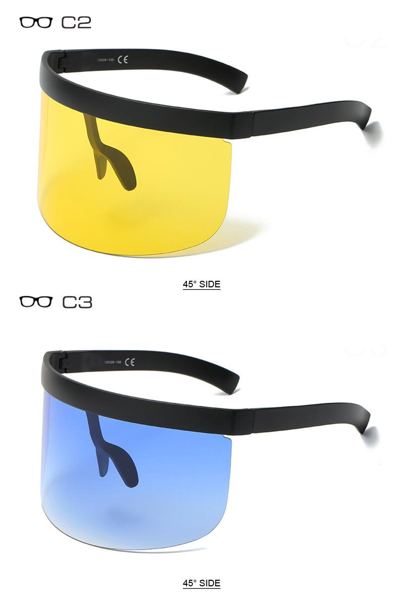 Very Big Integrated Lens Women Sunglasses Oversize Men Goggle Glasses UV400