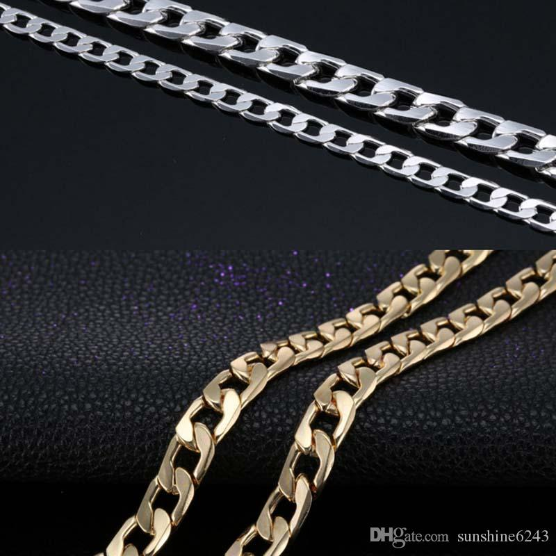 Big Size10MM Dia Gold Silver Gold Plated Cuban Chain Necklace Thick Mens Jewelry Womens Cool for dad boyfriend birthday gift