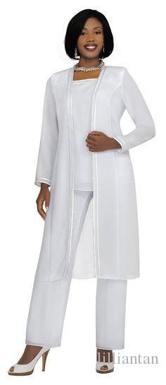 bleu royal mère blanche de la mariée marié en mousseline de soie pantalons costumes longue veste formelle mère mariée pantalon costumes robes de soirée de mariage