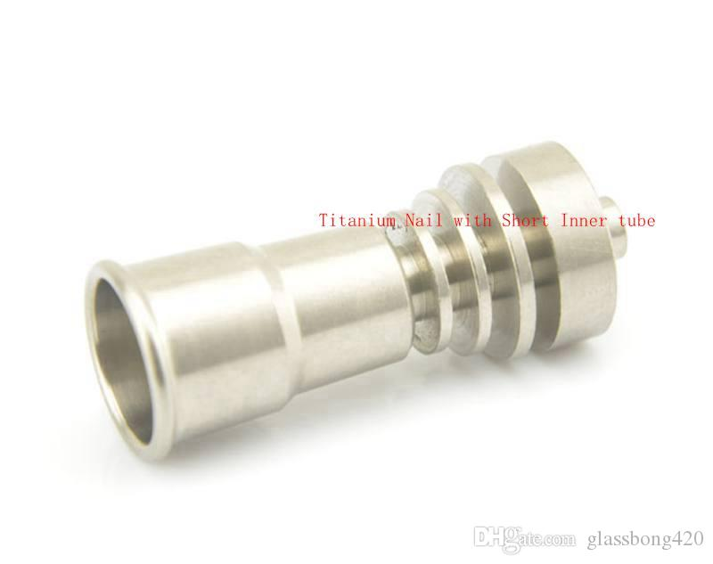 Good price New titanium domeless nail gr2 14/18mm for water Pipe glass bong Smoking pipes