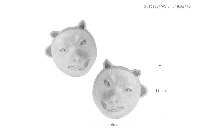 High Quality New Classic Silver Copper Mens Wedding Cufflinks Novelty Rar/e Fancy Bear Bear Market & Clean Cloth 158224
