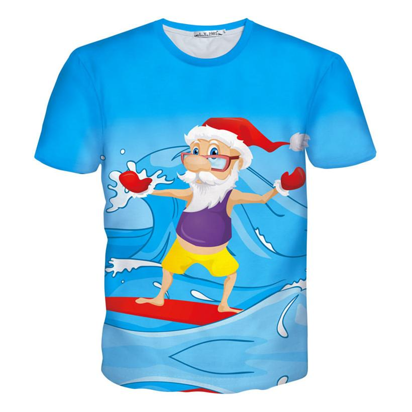 Tshirts Women/Men 3d T Shirt Funny Print Surf/Riding A Motorcycle ...