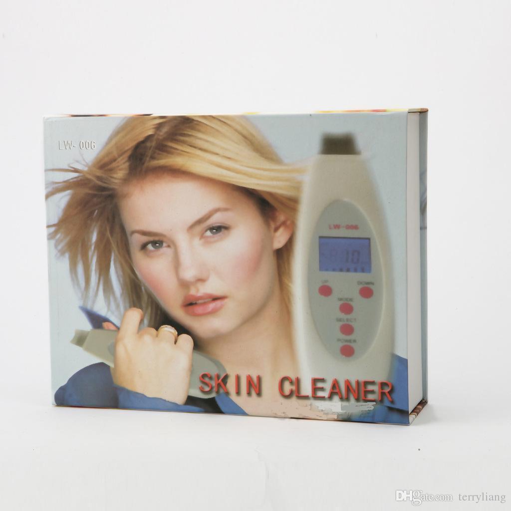 깊은 초음파 피부 모공 클렌징 장치 원더 음 피부 페이셜 클렌저 LCD 초음파 뷰티 도구 피부 노화 방지 도구를 청소