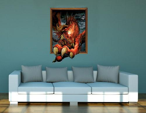 Wall Murals Decals Home Design - Custom vinyl wall decals dragon