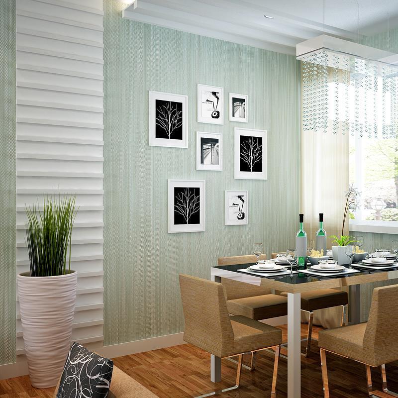 Großhandel Vlies Tapete Unifarben Normallack Grün Leinen Muster Tapeten  Schlafzimmer Wohnzimmer Arbeitszimmer Hotels Von Itshopcenter, $121.61 Auf  De.