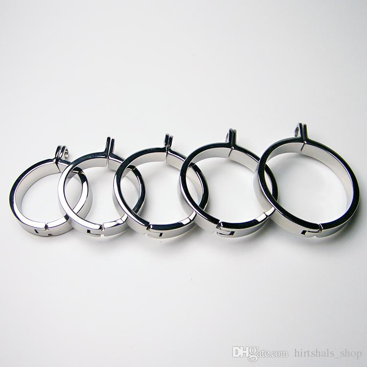 Stainless Steel Cock Ring For Chastity Crafts Metal Male Chastity Device Male Chastity Cock Ring