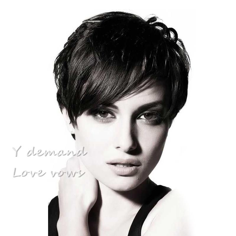 Top Quality Pixie Cut Short Glueless Full Wig Human Hair Wigs For