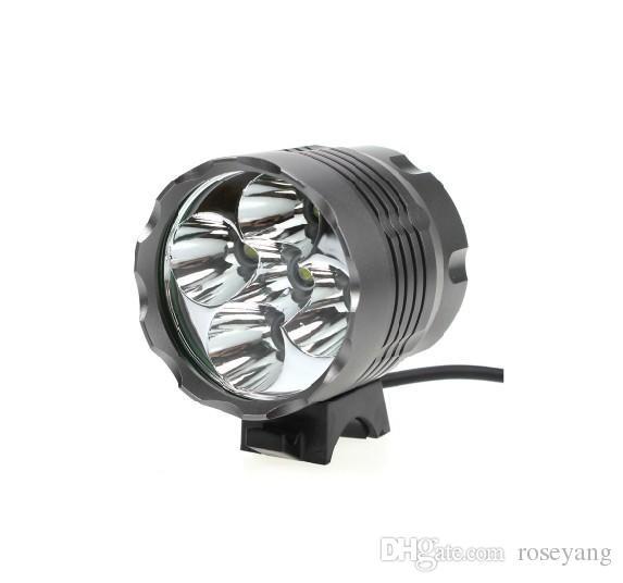 7000 LUMEN 5x CREE XM-L T6 LED 3 Mode Waterproof MTB Mountain Bike Bicycle Cycling Head Light Headlamp Bike Front Light +Battery
