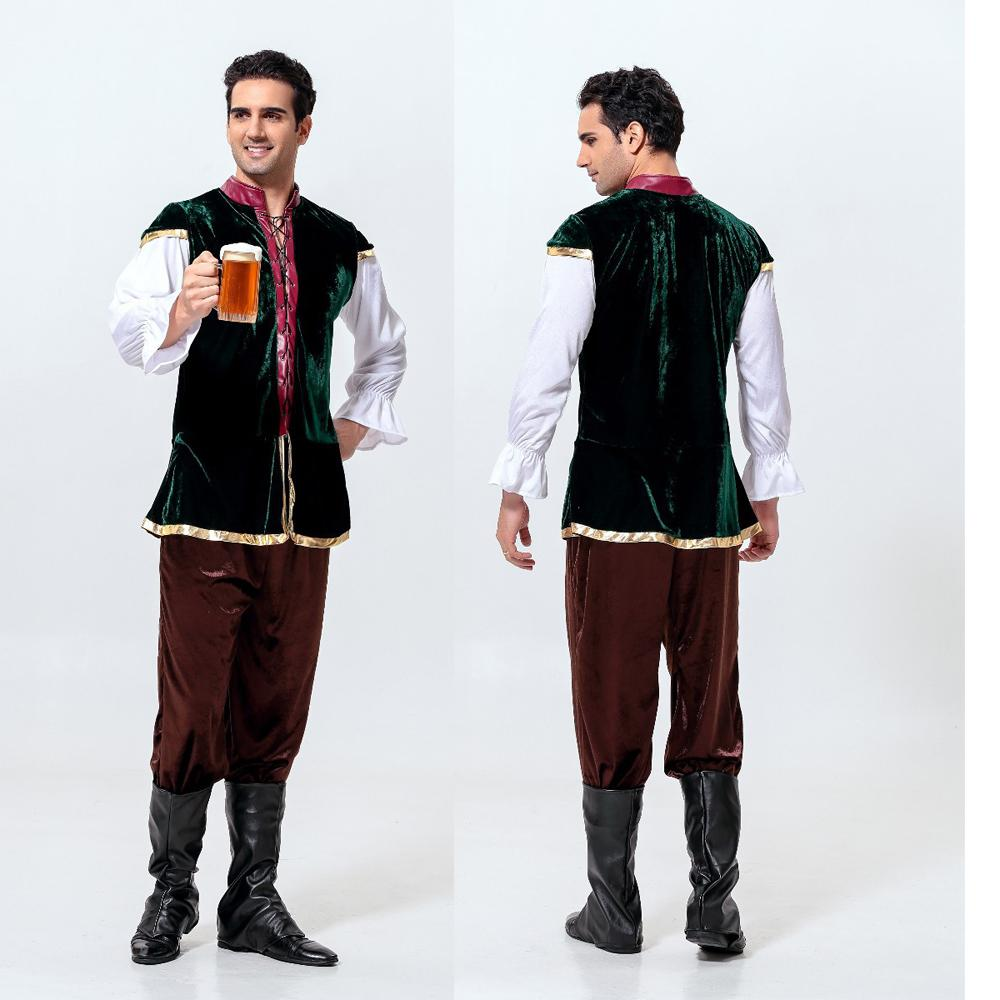 2016 new mens germanys oktoberfest and halloween costumes for man fancy dress ball farmer game worker clothes great group halloween costumes best group - Clothes Halloween