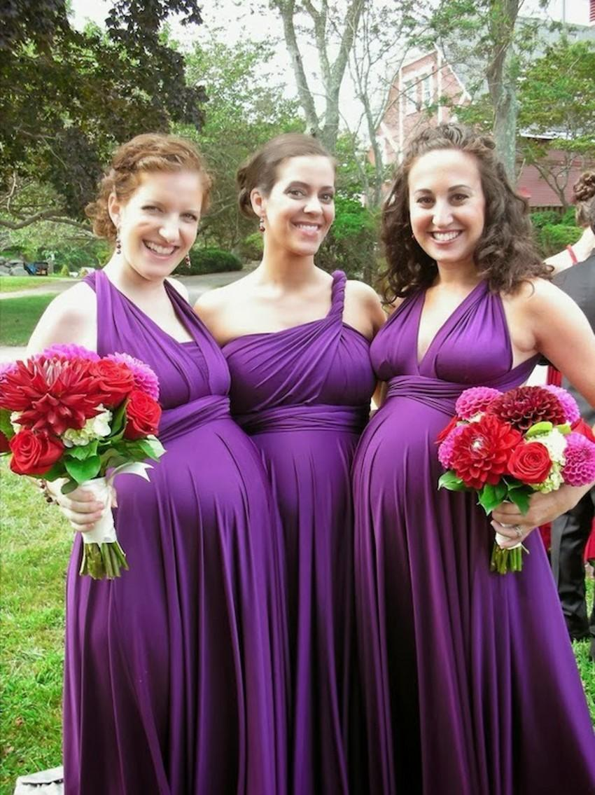Long maternity bridesmaid dresses cheap purple color a line empire see larger image ombrellifo Gallery
