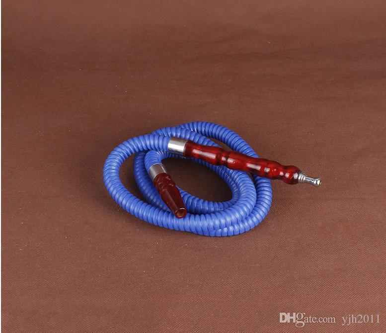 Caramelo de color Hookah Hookah Manguera Boca Sin sabor Protección del medio ambiente Accesorios de madera Hilo de tubo corrugado general