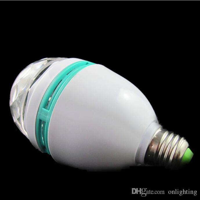 Coolorful 3W Rotatif LED Scène En Cristal LED Magic Ampoule Ampoule Disco Party DJ G792 G332 G82 avec boîte d'emballage au détail