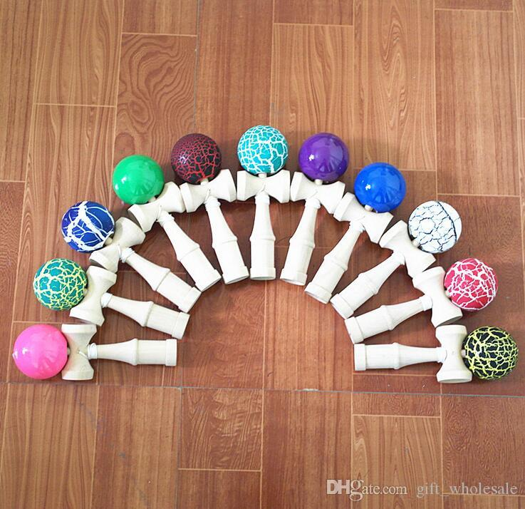 Colors mix 18.5CM Kendama Ball Japanese Traditional Wood Game Toy Education Gifts Hot Sale, DHL, Activity Gifts toys