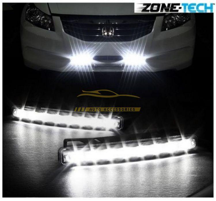 Kit di luce diurna diurna a LED auto da 8 LED 12V bianco