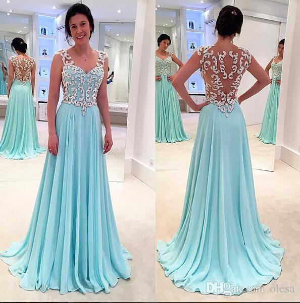 2015 Cheap Sexy Backless Prom Desses Chiffon Prom Dresses With ...