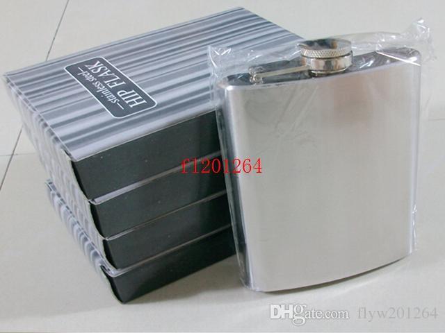 Fedex DHL Livraison Gratuite Haute Qualité 6 oz flacons à hanche en acier inoxydable ballon brossé, /