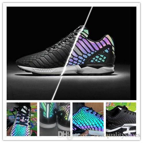 Best Retail ZX FLUX XENO The Chameleon Men And Women Shoes Boost Reflective  Black Snake Running Shoe Hot Sale Sport Shoes Sneakers 36-45 Retail ZX FLUX  XENO ...