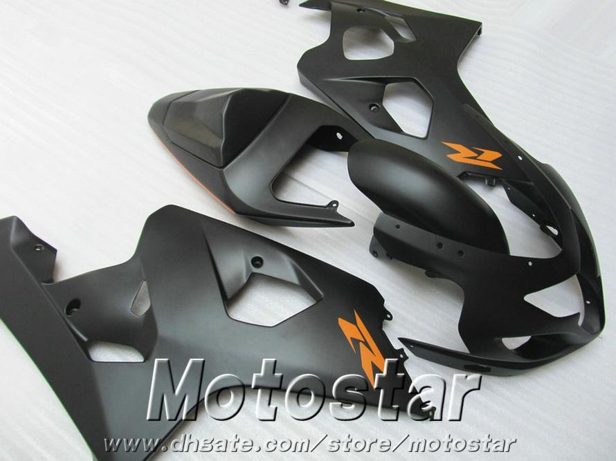 Fairings bodywork set for SUZUKI GSXR600 GSXR750 04 05 K4 GSX-R 600/750 2004 2005 all matte black plastic fairing kit QE60