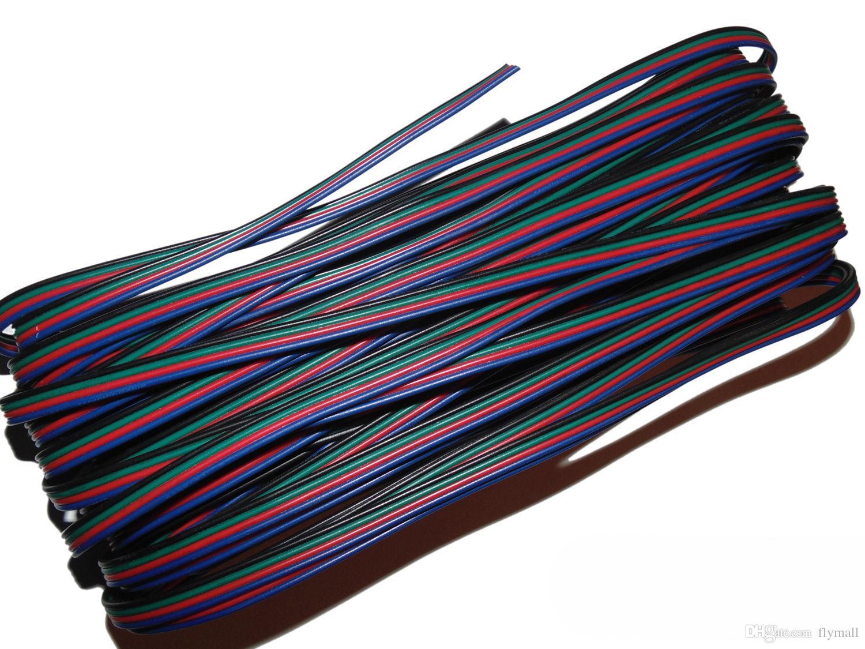 10M 10 mètres RGB 4-Pin Extension Connecteur Fil Cordon Câble Pour 3528 5050 RGB LED Bande D'allumage Cordon D'extension Led Accessoires D'éclairage