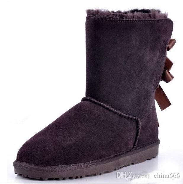 2016 new women 's Australia Lady Cowskin leather snow boots winter shoes for women boots boot.#0236