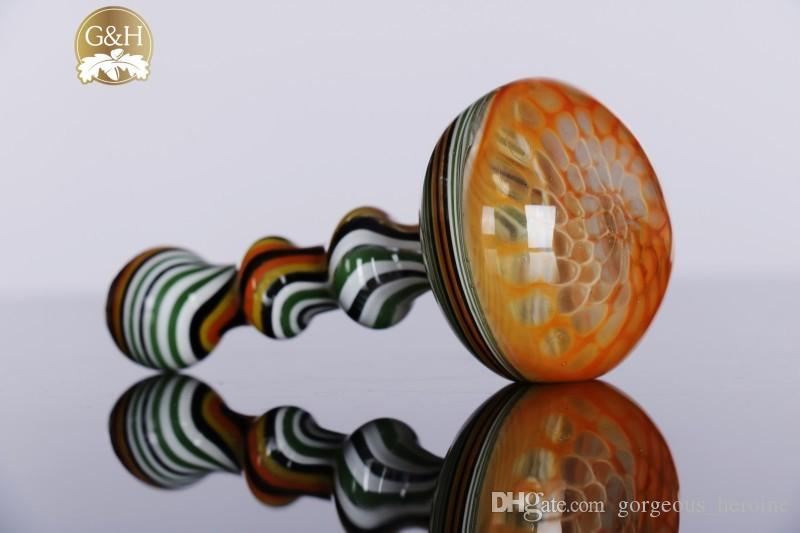 2015 Wholesale colorful Mini Glass Pipes smoking Pipes Hand hammer Pipe mixed colors