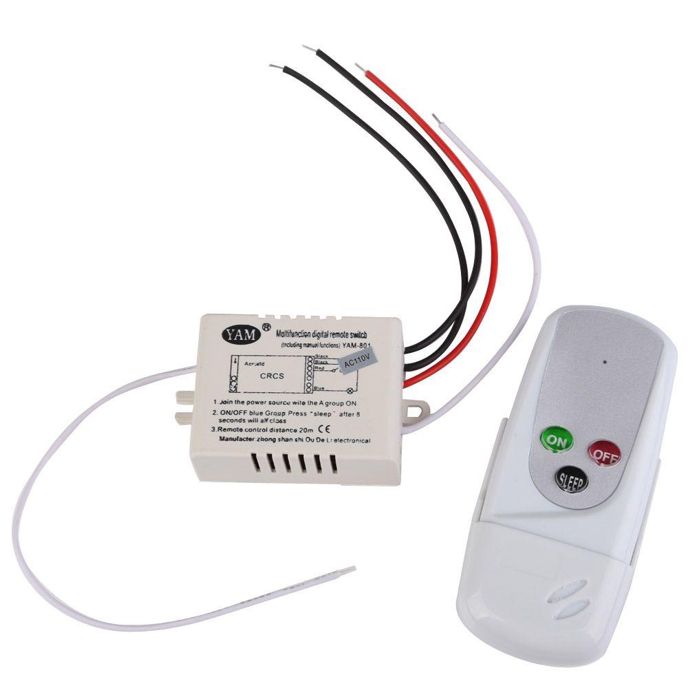 2018 R1b1 1 Way Port 200v 240v Light Digital Wireless Wall Remote ...