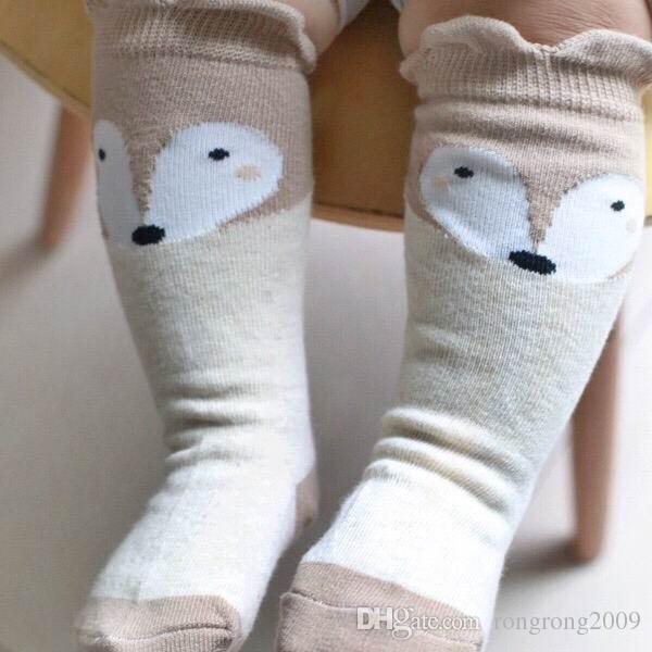 Primavera Autunno Design Babe Calze Cartone animato orecchie di volpe cotone calze antiscivolo calze bambini 0-4T 15061