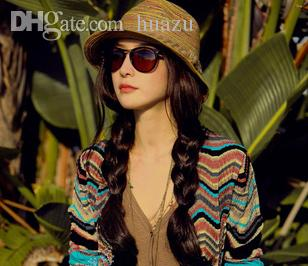 Wholesale-Fashion Woman Summer Short Brim Bohemia Style Straw Braid ... 890b353f7797