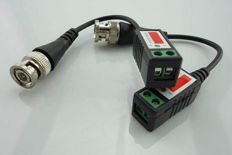الشحن مجانا الجملة 100 زوج / الوحدة 200 قطع السلبي utp balun cat5 rj45 ذكر bnc موصل cctv فيديو balun