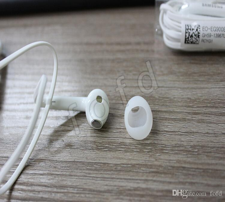 Por estéreo Samsung Galaxy S6 S6 Edge G925 Auricular negro de fideos plana auriculares auriculares con micrófono en el oído de calidad superior del envío