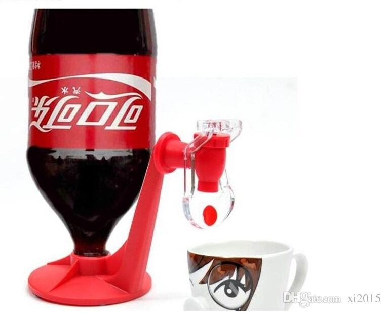 Mini ondersteboven Drinken Fonteinen Fizz Saver Cola Soda Drank Schakelaar Drinkers Handdruk Water Dispenser Automatische DHL UPS Factory