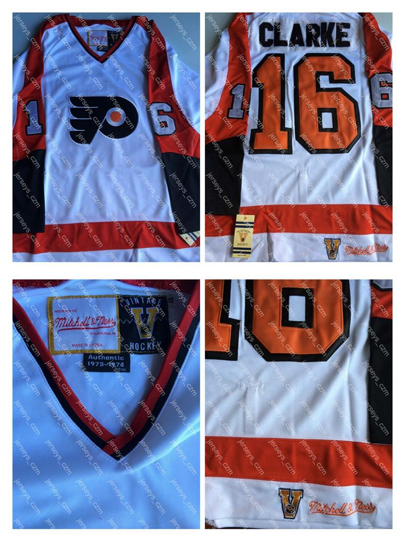 finest selection aa25c c193f italy flyers 16 bobby clarke black ccm throwback stitched ...