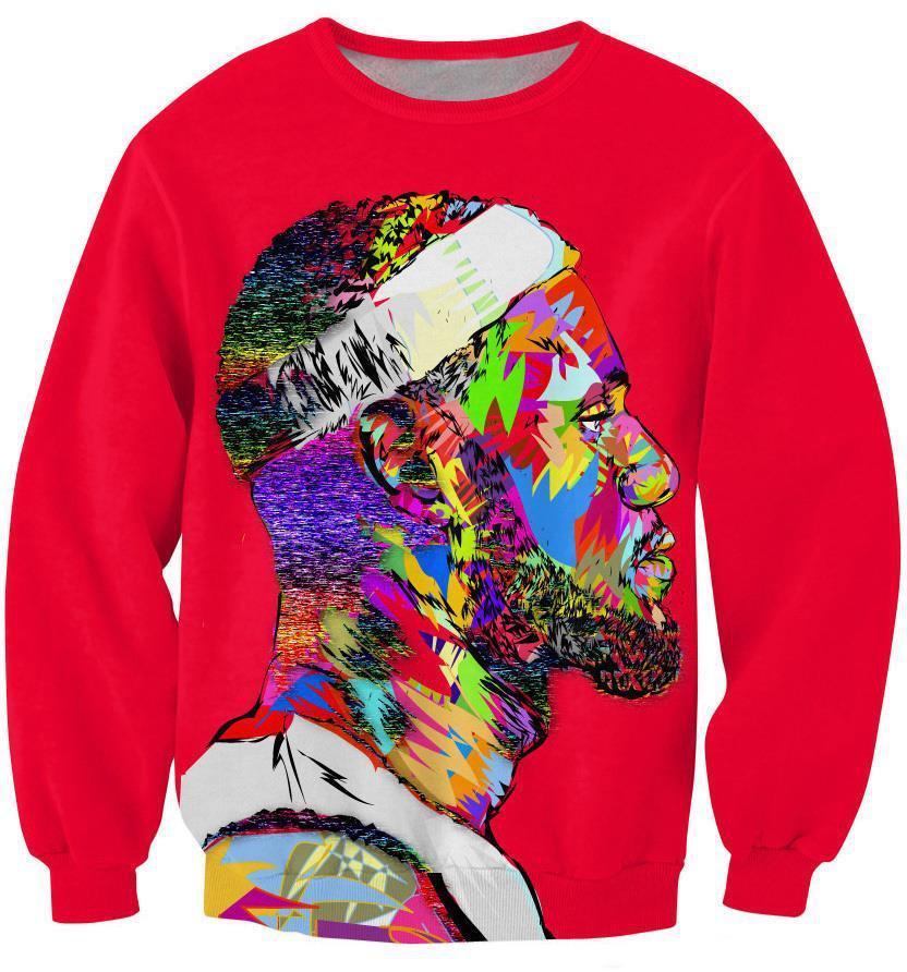 9a602dd60d42 2019 FG1509 Women Mens Fashion Tie Dye Hoodie Pullovers Character Lebron  James 3d Sweatshirt Graphic Crewneck Sweatshirts Sportswear From Xingyan01