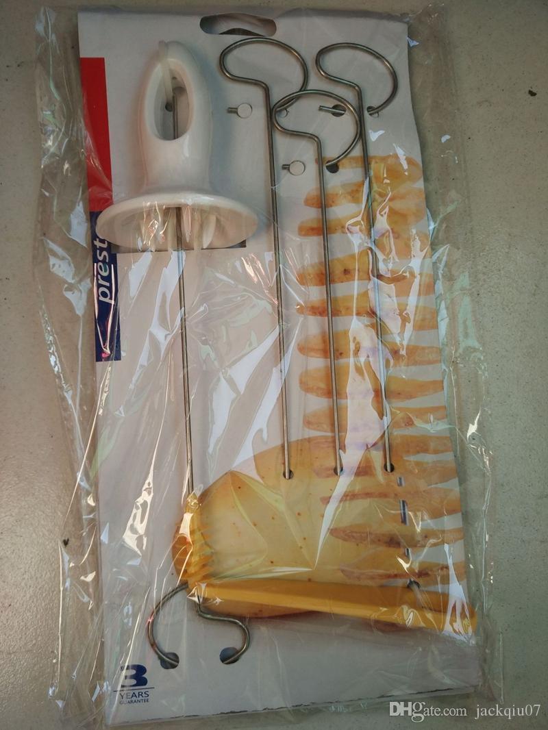 Tornado Potato Spiral Cutter Manual Slicer Spiral French Fry Cutter Potato Tower Making Twist Shredder Kitchen Supplies
