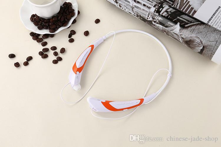 HBS760 HB-S760 Sem Fio Bluetooth V4.0 fone de Ouvido Fones De Ouvido Fones De Ouvido Neckband Estéreo com Microfone Do Fone De Ouvido para Esportes 100 pçs / lote OPP SIMPLES