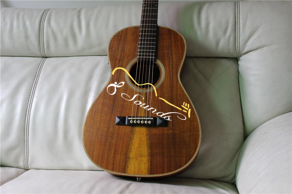 ooo28k all solid acoustic guitar ooo 28k solid koa wood acoustic electric guitar aaa top quality. Black Bedroom Furniture Sets. Home Design Ideas