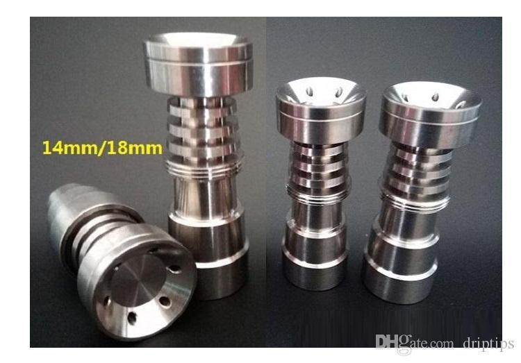 최신 4-in-1 도리스 티타늄 네일 그레이드 2 네일 여성용 및 남성용 14mm 18.8mm 여성용 및 남성용 유니버설 유리 봉