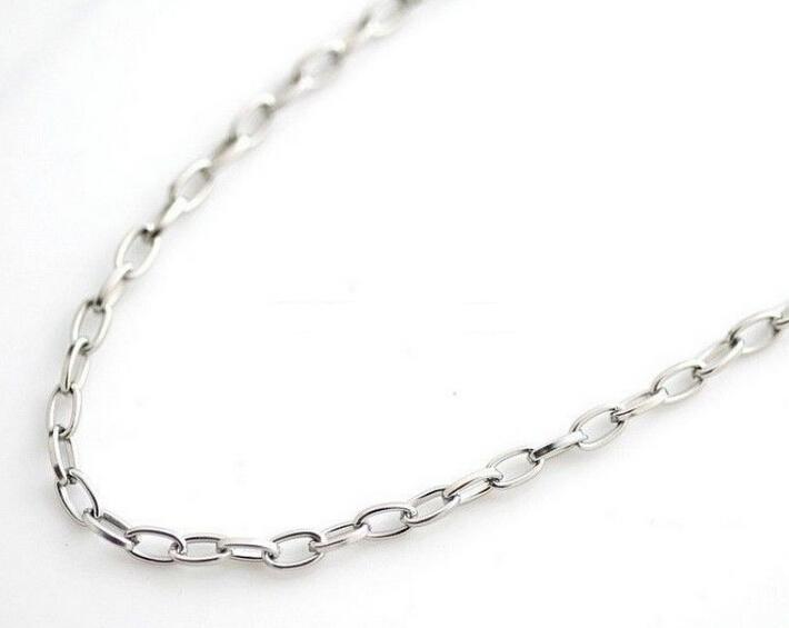 wholesale 5 meter/ 4mm Fashion Jewelry Finding stainless steel Silver Smooth Oval Link Chain Finding / Marking DIY Necklace Bracelet