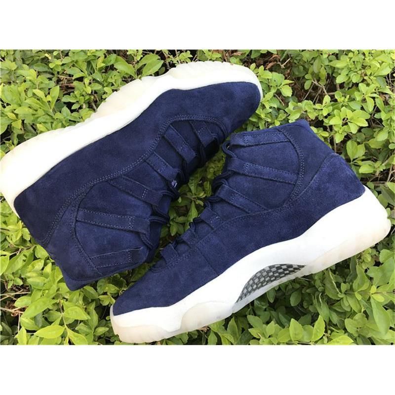 1802e47f264d 2019 Air Retro 11 PRM JETER RE2PECT Blue Suede Basketball Shoes For Men Top  Quality Limited Release 351792 147 Real Carbon Fiber With Box From  Amigo239