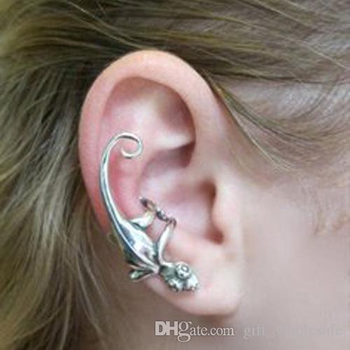 Gecko orecchio bracciale colore argento oro e vecchio animale dell'orecchino della fabbrica Promozione prezzo spedizione gratuita