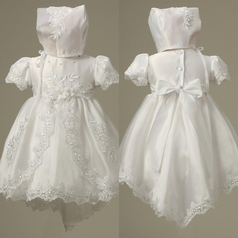 New Arrival Lovely Lace Christening Gowns Kids Baptism Dress Stain ...