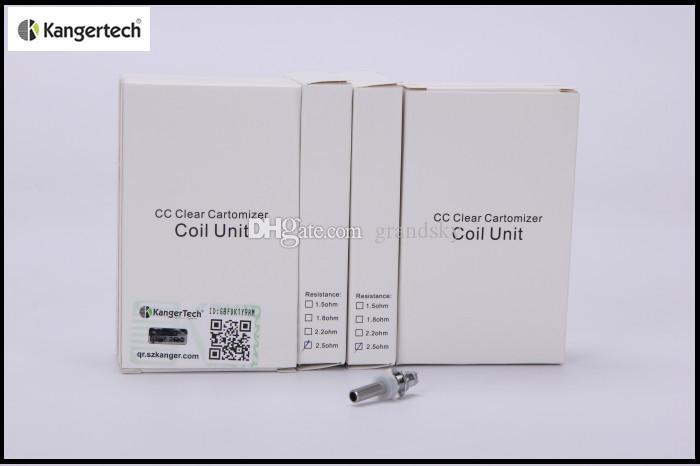 Kanger genuino Reemplace la cabeza de la bobina para MT3S / T3S Atomizador E cigarrillo MT3S T3S Core T3S Pieza de repuesto 1.8 / 2.2 / 2.5ohm