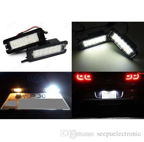 2x VW номерной знак SMD LED свет ошибка GTI CC Eos Scirocco