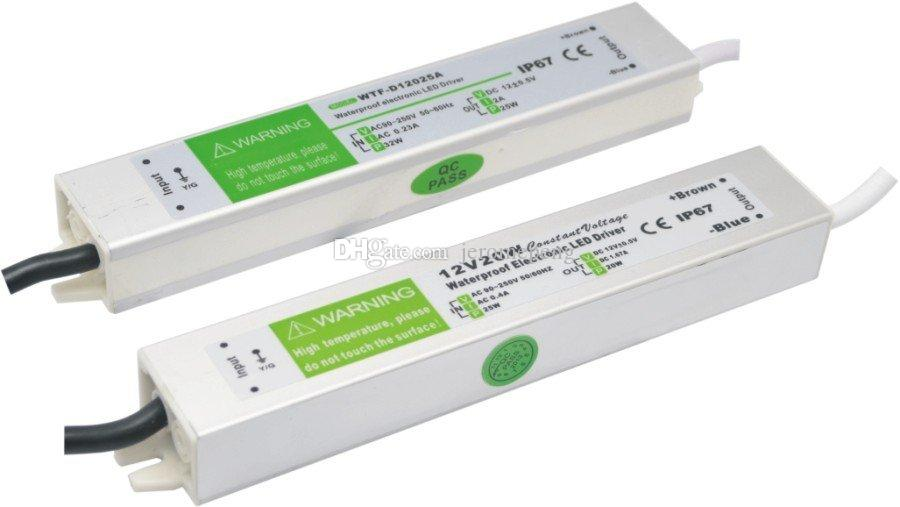 15W 20W 30W 60W 방수 야외 LED 전원 공급 장치 드라이버 100-240V AC 12V 24V DC 변압기 LED 모듈 및 스트립에 대 한 IP67