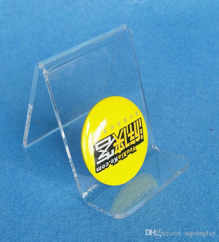 Di alta qualità acrilico spessore 3mm borsa portafoglio portafoglio Iphone libro prodotti display rack supporto del basamento di un livello guesset 25mm 10 pz spedizione gratuita
